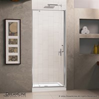 "DreamLine Flex 28-32"" Adjustable W x 32"" D x 74-3/4"" H Frameless Shower Door and Base Kit, Chrome Finish Hardware DL-6215C-01CL"