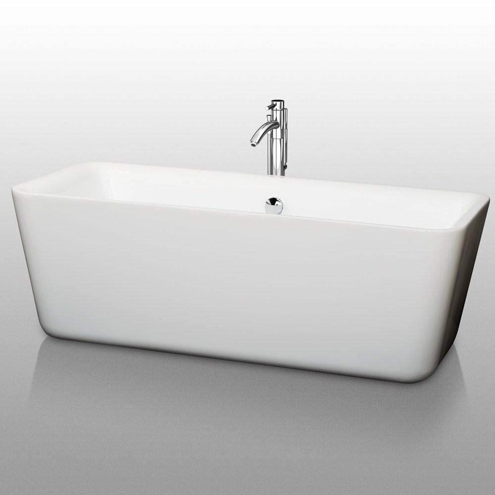 "Emily 69"" Soaking Bathtub by Wyndham Collectionnohtin Sale $1399.00 SKU: WC-BT1001-69 :"
