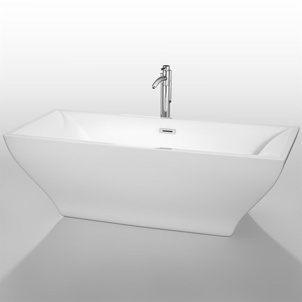 "Maryam 71"" Soaking Bathtub by Wyndham Collection - Whitenohtin Sale $1399.00 SKU: WC-BTK1518-71 :"