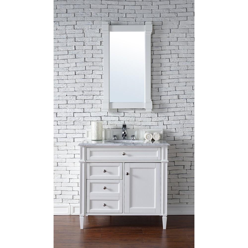 "James Martin 36"" Brittany Single Vanity - Cottage Whitenohtin Sale $900.00 SKU: 650-V36-CWH :"