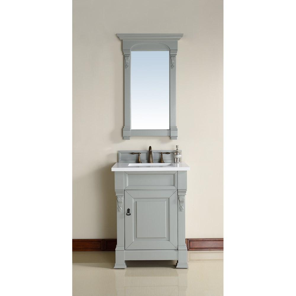 "James Martin 26"" Brookfield Single Vanity - Urban Graynohtin Sale $640.00 SKU: 147-114-V26-UGR :"