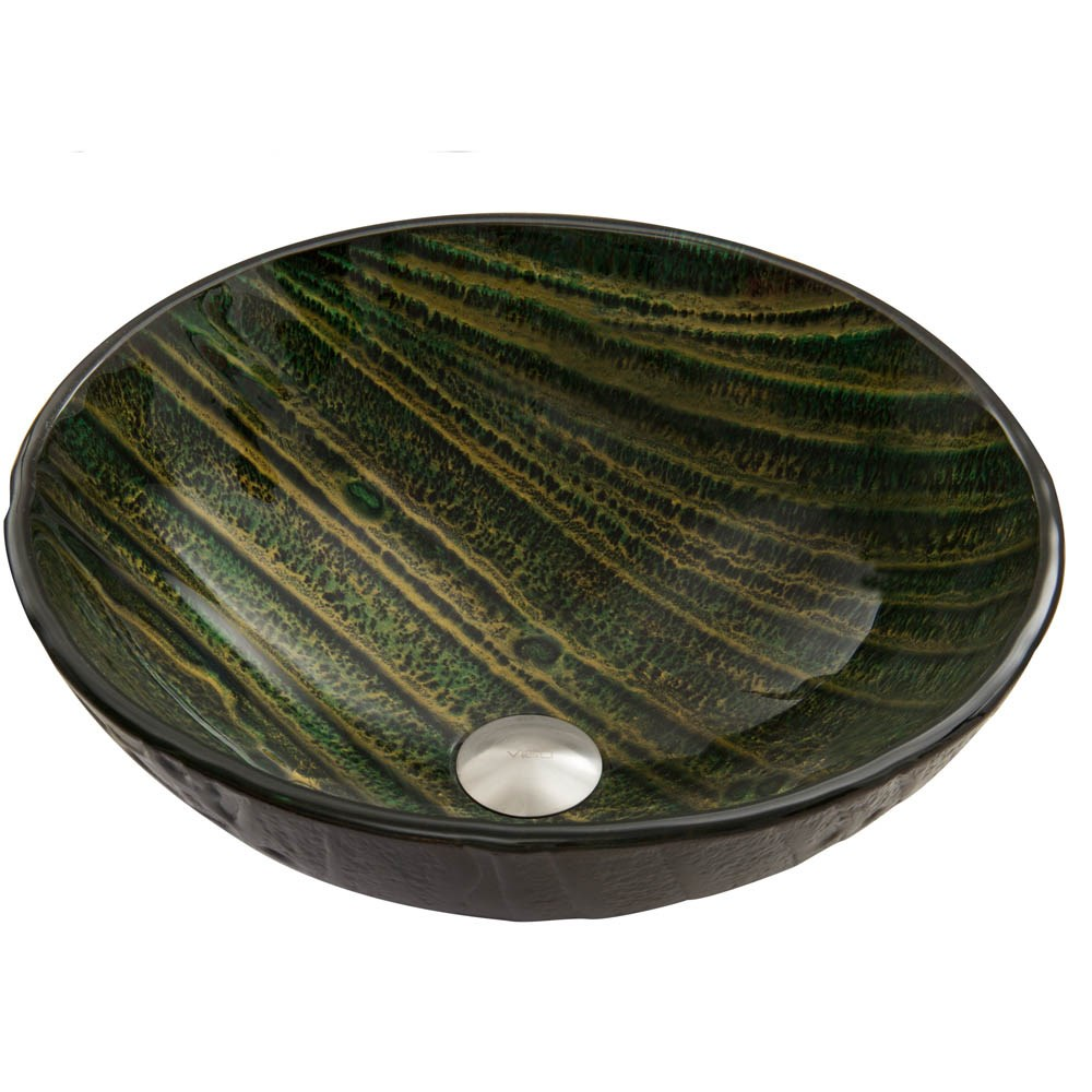 VIGO Green Asteroid Glass Vessel Sinknohtin