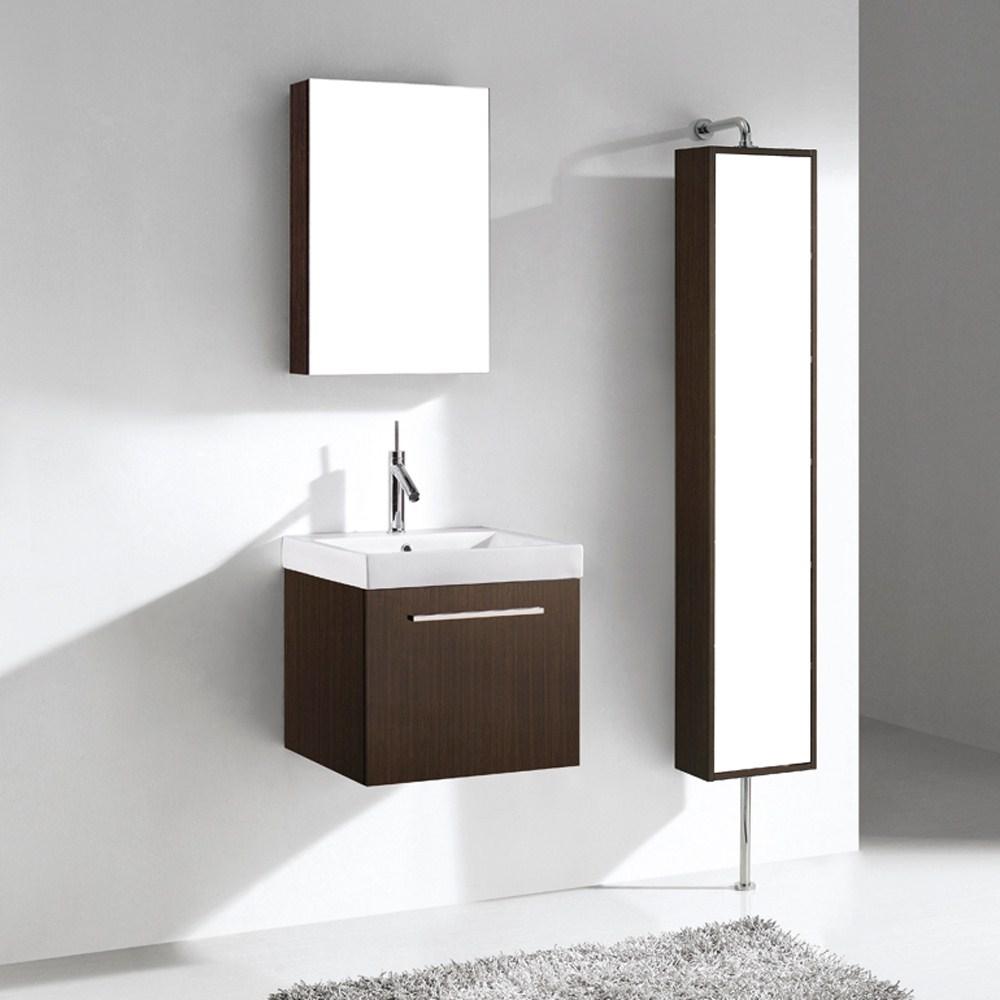 "Madeli Arezzo 20"" Bathroom Vanity - Walnut | Free Shipping - Modern Bathroom"