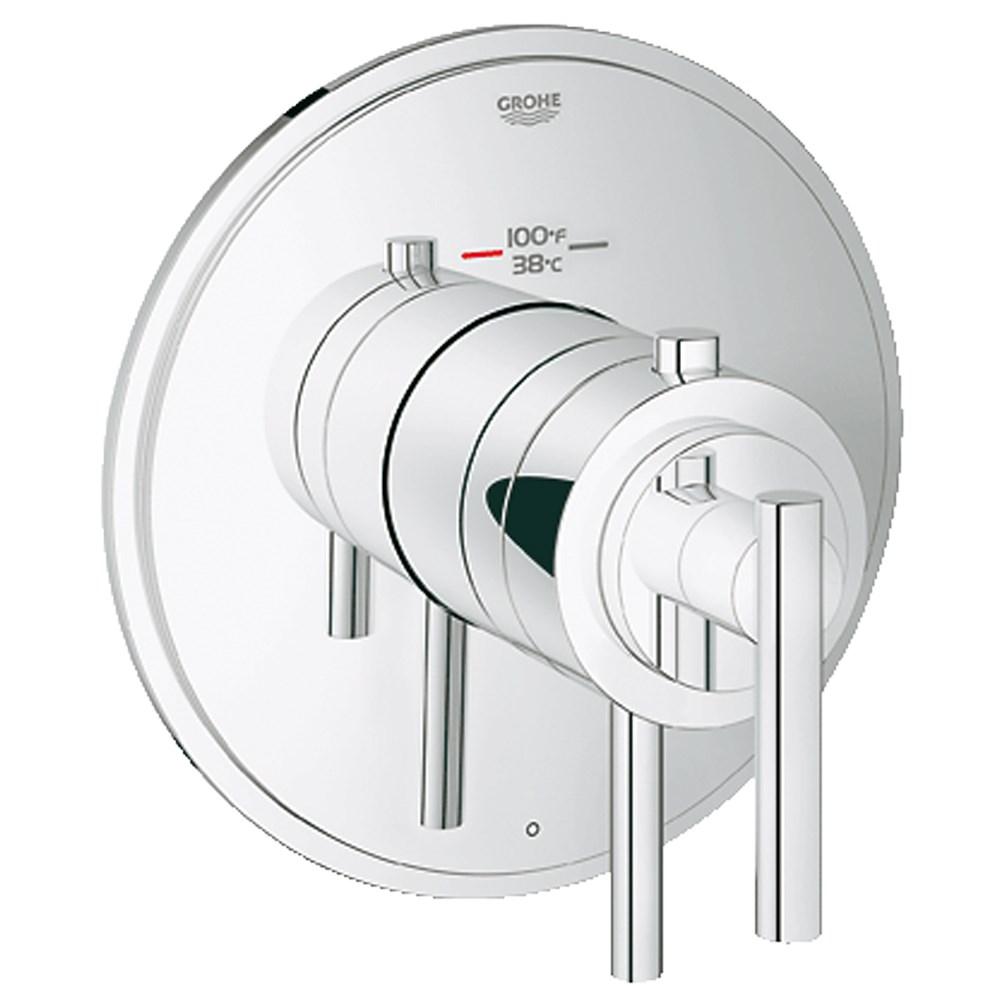 Grohe Atrio Single Function Thermostatic Trim with Control Module - Starlight Chromenohtin Sale $349.99 SKU: GRO 19848000 :
