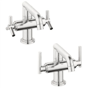 Grohe Atrio Low Spout Lavatory Centerset, Infinity Brushed Nickel by GROHE
