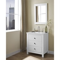 "Fairmont Designs Uptown 30"" Vanity for Integrated Sinktop - Glossy White 1520-V30-"