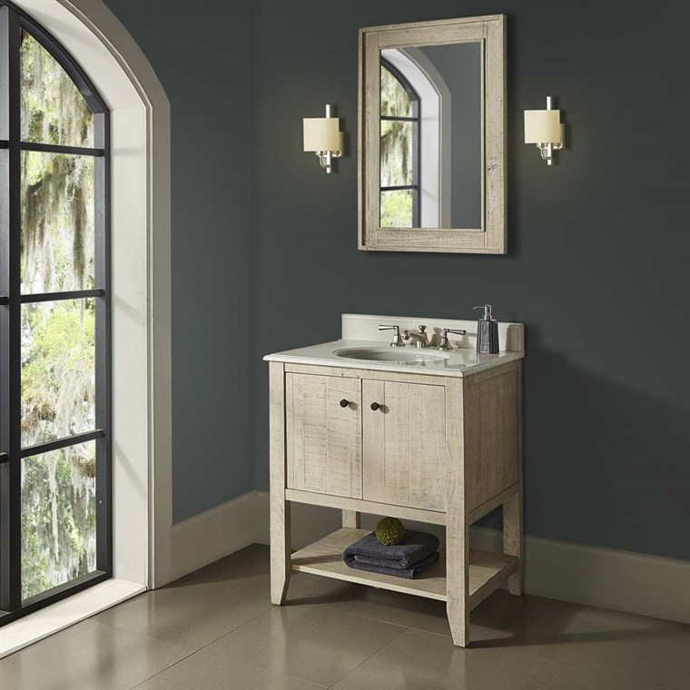 "Fairmont Designs River View 30"" Open Shelf Vanity for Undermount Oval Top - Toasted Almond 1515-VH30_"