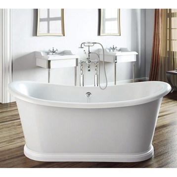 Americh international boat freestanding bathtub white for Most comfortable tub reviews
