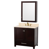 "Abingdon 36"" Single Bathroom Vanity by Wyndham Collection - Espresso WC-1515-36-ESP"