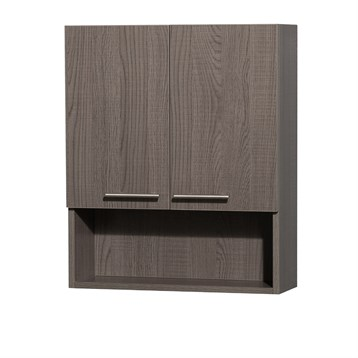 Amare over toilet wall cabinet by wyndham collection gray oak free shipping modern bathroom for Wyndham bathroom wall cabinet