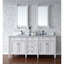 "James Martin 72"" Brittany Double Cabinet Vanity - Cottage White 650-V72-CWH"