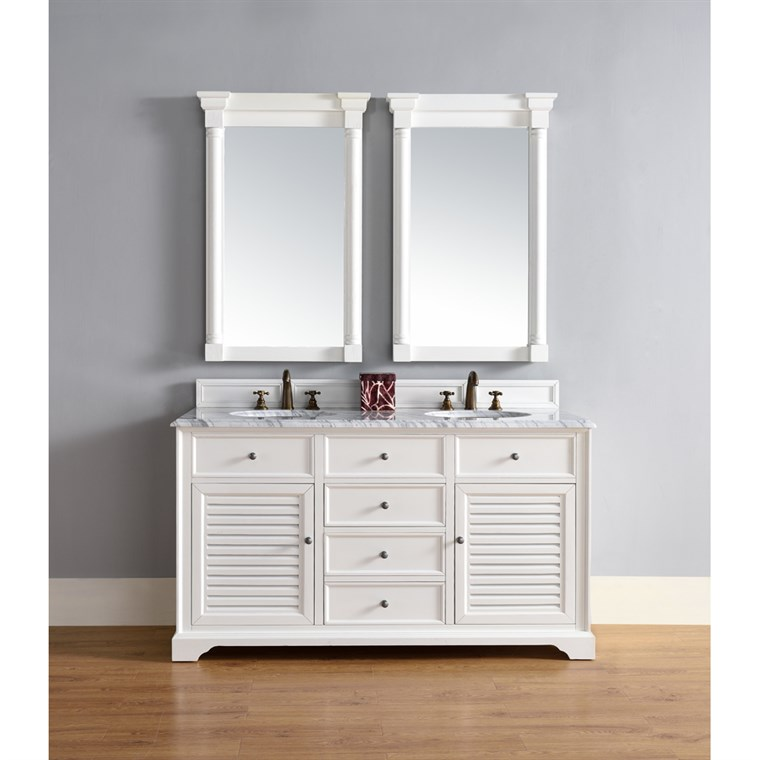 "James Martin 60"" Savannah Double Vanity - Cottage White 238-104-V60D-CWH"