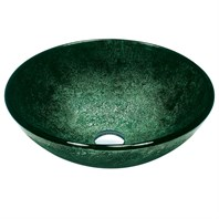 VIGO Emerald Glass Vessel Bathroom Sink VG07504