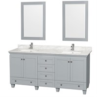 Acclaim 72 in. Double Bathroom Vanity by Wyndham Collection - Oyster Gray WC-CG8000-72-DBL-VAN-OYS-