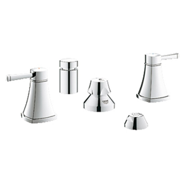 "Grohe Grandera 2-Handle Bidet Mixer 1/2"" M-Size - Starlight Chrome GRO 24034000"