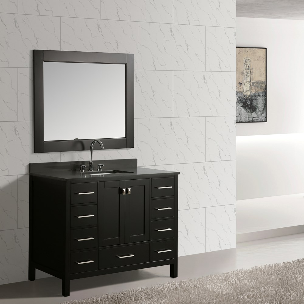 "Design Element London Hyde 48"" Single Sink Vanity Set - Espresso DEC082C-E-GT"
