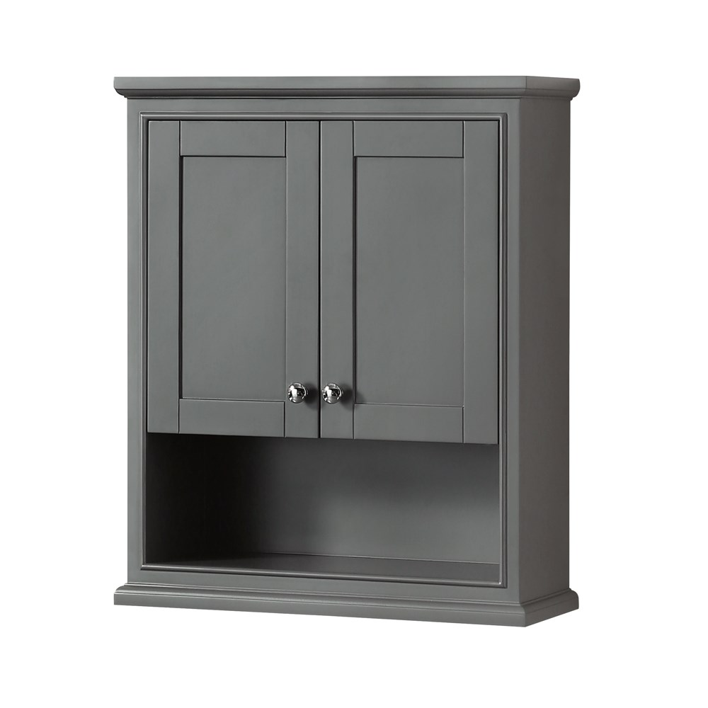 Deborah Over Toilet Wall Cabinet By Wyndham Collection Dark Gray