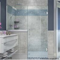 "DreamLine Unidoor Plus 47""-48-1/2""W Hinged Shower Door With 24"" Wide Buttress Panel SHDR-47BUTTRESS"