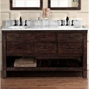 "Fairmont Designs Napa 60"" Double Bowl Open Shelf Vanity - Aged Cabernet 1506-VH6021D"