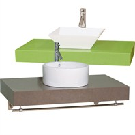 Shiro Custom CaesarStone™ Wall-Mounted Bathroom Vanity - Corsica Vessel Sink CS-B888
