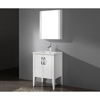 "Madeli Caserta 24"" Bathroom Vanity with Integrated Basin - Glossy White B918-24-001-GW"