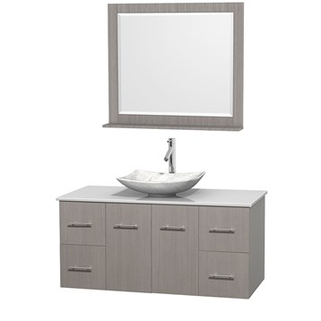 "Centra 48"" Single Bathroom Vanity for Vessel Sink by Wyndham Collection, Gray Oak WC-WHE009-48-SGL-VAN-GRO_ by Wyndham Collection®"