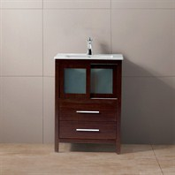 "Vigo 24"" Alessandro Single Bathroom Vanity - Wenge VG09019118K1"
