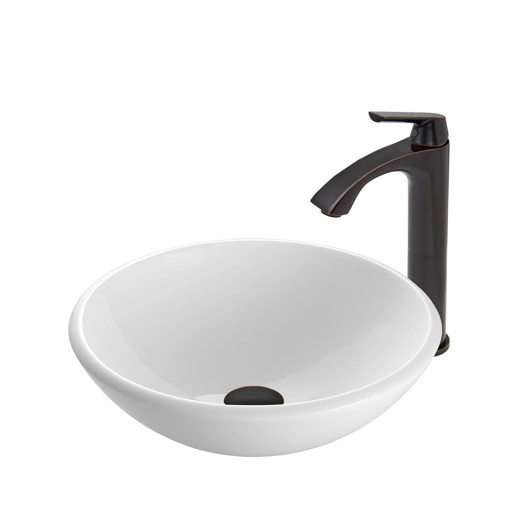 VIGO White Phoenix Stone Vessel Sink and Linus Faucet Set in Antique Rubbed Bronze Finishnohtin Sale $235.90 SKU: VGT430 :