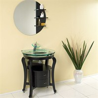 Fresca Simpatico Espresso Modern Bathroom Vanity with Mirror & Shelves FVN3330ES