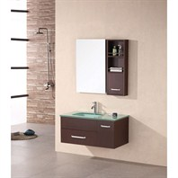 "Design Element Christine 35"" Single Bathroom Vanity Set - Espresso DEC1107"