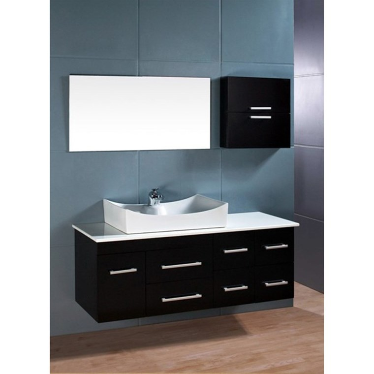 "Design Element Springfield 53"" Single Sink Vanity Set - Espresso DEC1101"