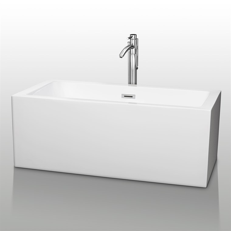 "Melody 60"" Soaking Bathtub by Wyndham Collection - White COPY WC-BTM1011-60"