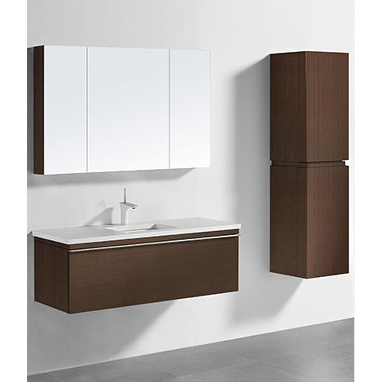 "Madeli Venasca 48"" Bathroom Vanity for Quartzstone Top - Walnut B990-48C-002-WA-QUARTZ"