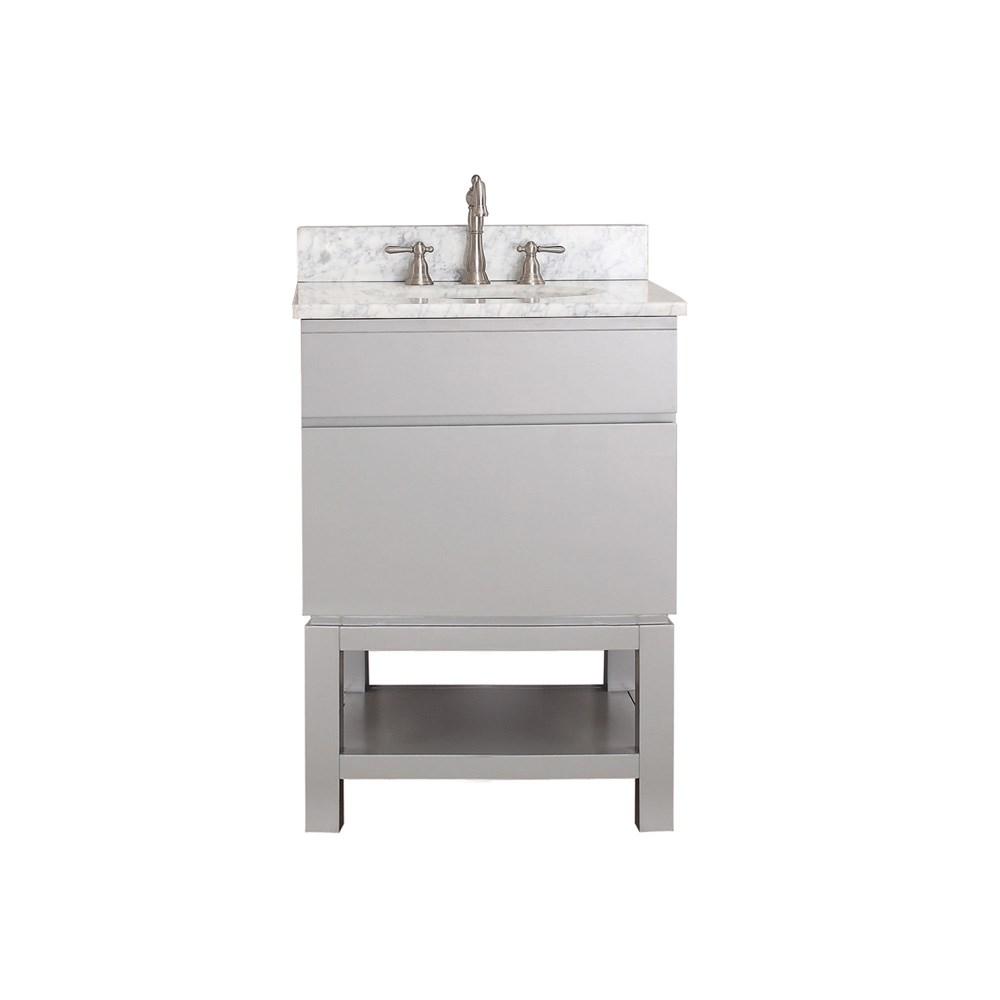 "Avanity Tribeca 24"" Single Bathroom Vanity with Base - Chilled Graynohtin Sale $782.00 SKU: TRIBECA-B24-CG :"