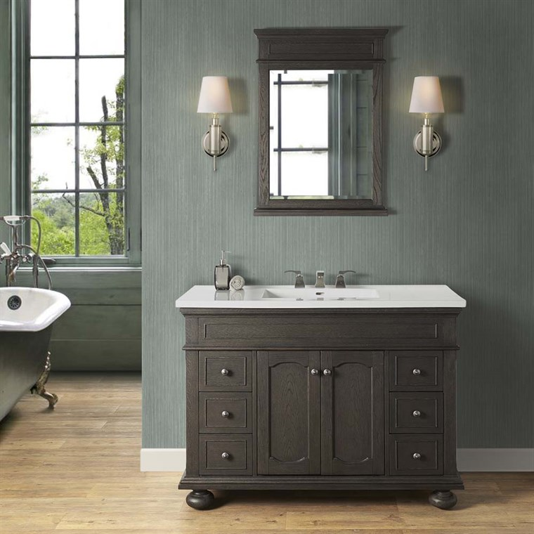 "Fairmont Designs Oakhurst 48"" Vanity for Integrated Top - Burnt Chocolate 1536-V48-"