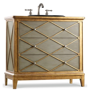 """Cole & Co. 42"""" Designer Series Lauren Hall Chest, Shimmering Neutrals of Gold and Soft 11.22.275542.66 by Cole & Co."""