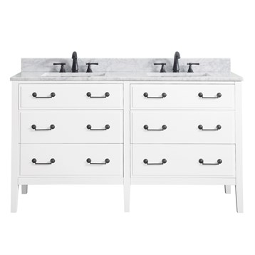"Avanity Delano 60"" Double Bathroom Vanity, White DELANO-60-WT by Avanity"