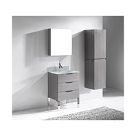 "Madeli Milano 24"" Bathroom Vanity for Integrated Basin - Ash Grey B200-24-002-AG"