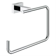 Grohe Essentials Cube Towel Ring - Chrome GRO 40510000