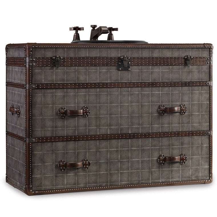 "Cole & Co. 46"" Designer Series Sutherland Travel Chest - Weathered Grey 11.22.275546.68"