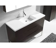 "Madeli Milano 48"" Bathroom Vanity for X-Stone Integrated Basin - Walnut B200-48-002-WA-"