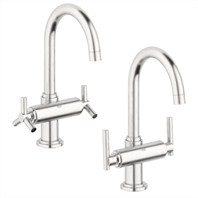 Grohe Atrio High Spout Lavatory Centerset - Infinity Brushed Nickel