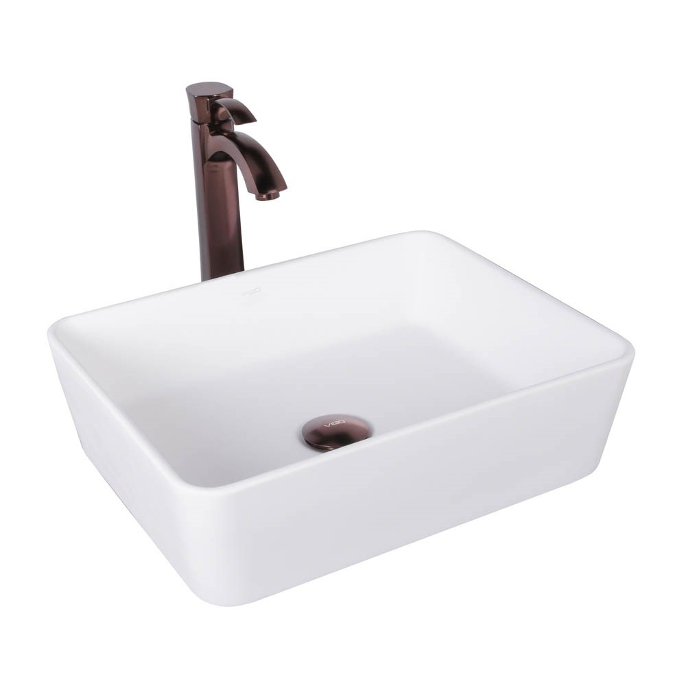 VIGO Sirena Matte Stone Vessel Sink and Otis Bathroom Vessel Faucet in Oil Rubbed Bronzenohtin Sale $279.90 SKU: VGT1014 :