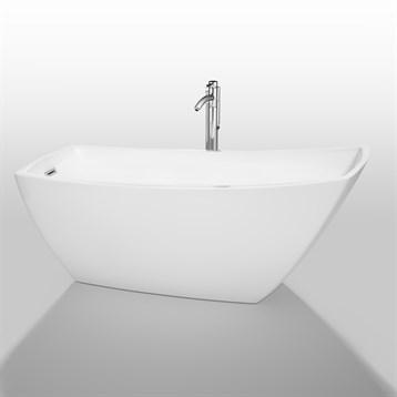 """Antigua 67"""" Soaking Bathtub by Wyndham Collection, White WC-BTK1533-67 by Wyndham Collection®"""