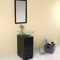 Fresca Brilliante Espresso Modern Bathroom Vanity with Mirror FVN6117ES
