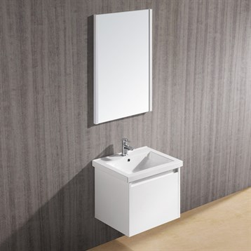 Vigo 23 Bianca Single Bathroom Vanity With Mirror White Gloss Free Shipping Modern