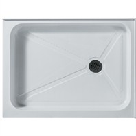 Vigo 32 x 40 Rectangular Shower Tray White Right Drain - White VG06019WHT3240