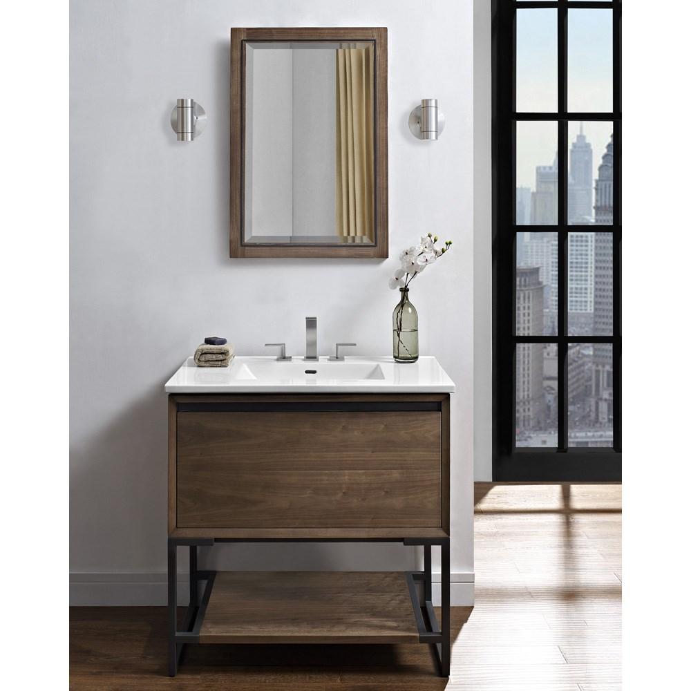 "Fairmont Designs M4 36"" Vanity for Integrated Sinktop - Natural Walnutnohtin Sale $1447.00 SKU: 1505-V36- :"