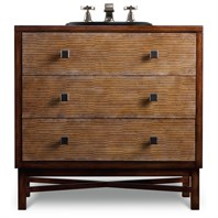 "Cole & Co. 34"" Designer Series Baker Hall Chest - Medium Chestnut Poplar 11.22.275534.27"