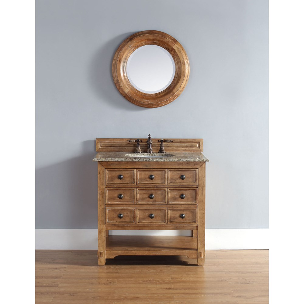 "James Martin 36"" Malibu Single Vanity - Honey Aldernohtin Sale $1200.00 SKU: 500-V36-HON :"